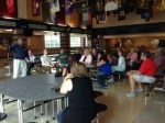 Principal Horn speaks to the class of 1973 in the new cafeteria - amazing!